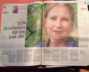 Woensdag 14 oktober in het Haarlems Dagblad